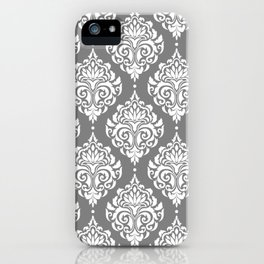 Grey Damask iPhone Case