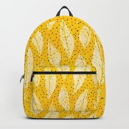 Happy Leaf Print Backpack
