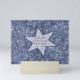 starry sky pacific northwest haiku Mini Art Print