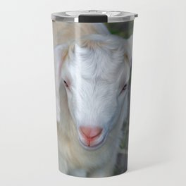 White Baby Goat Travel Mug