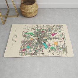 Colorful City Maps: Dayton, Ohio Rug