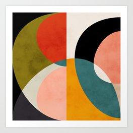 geometry shapes 3 Art Print