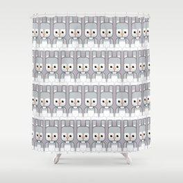 Silver Grey Bunny Rabbit - Super Cute Animals Shower Curtain