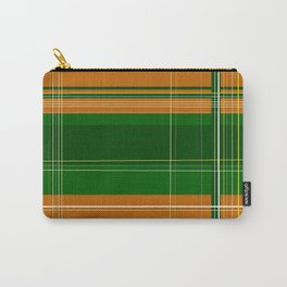 Green and Orange Plaid Carry-All Pouch