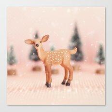 Baby Deer Christmas Canvas Print