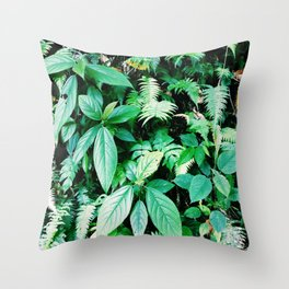Jungle plants pattern in Minca, Colombia Throw Pillow