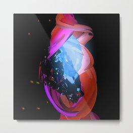 Glowing Metal Print