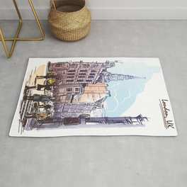 Color Sketch from London 02 Rug