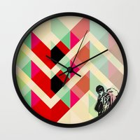 joy division Wall Clocks featuring Ian Curtis from Joy division by ░░░░░░░░░░░░