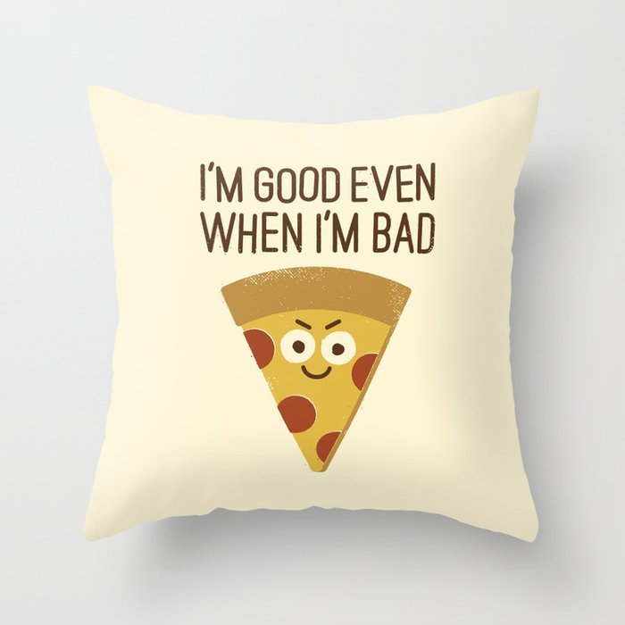 Mozzarelativity Throw Pillow