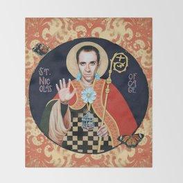 Saint Nicolas of Cage Throw Blanket