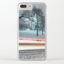 Silent Winter Drive Clear iPhone Case