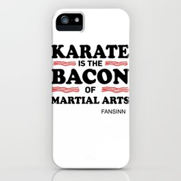 Karate martial arts sports power struggle gift iPhone Case