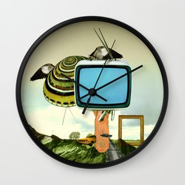 Waiting for Magritte Wall Clock