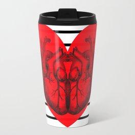Hearts and Stripes Travel Mug