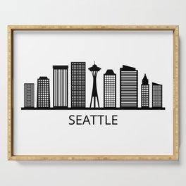 Seattle skyline Serving Tray