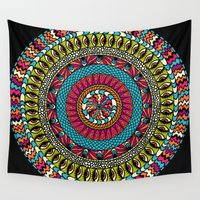 all seeing eye Wall Tapestries featuring Evil Eye Protection / All Seeing Eye by MY  HOME