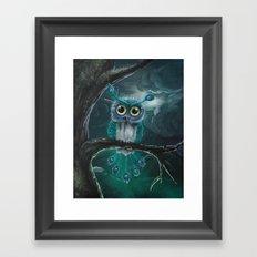 Peacock owl Framed Art Print