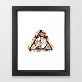 Watercolor Deathly Hallows Framed Art Print