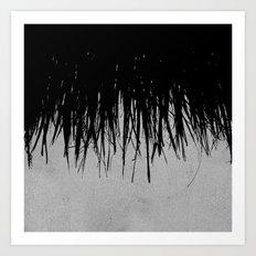 Concrete Fringe Black Art Print