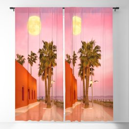 Super Moon At Sunset Blackout Curtain