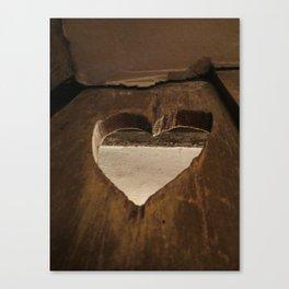 Cut Out Heart Canvas Print