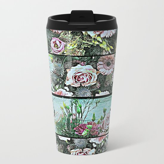 Romantic Rococo wood panel Metal Travel Mug