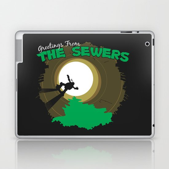 Greetings From the Sewers Laptop & iPad Skin