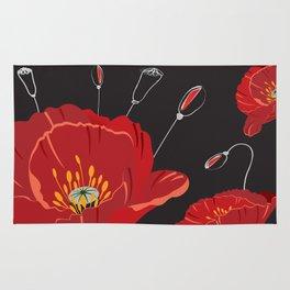 Poppy variation 8 Rug
