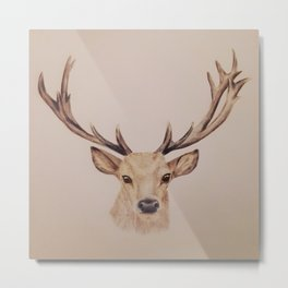 Stag colour drawing Metal Print