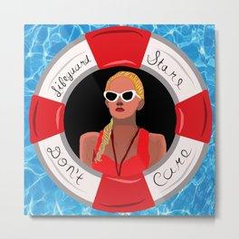 Lifeguard Stare Don't Care Metal Print