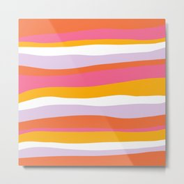 cali beach stripes Metal Print