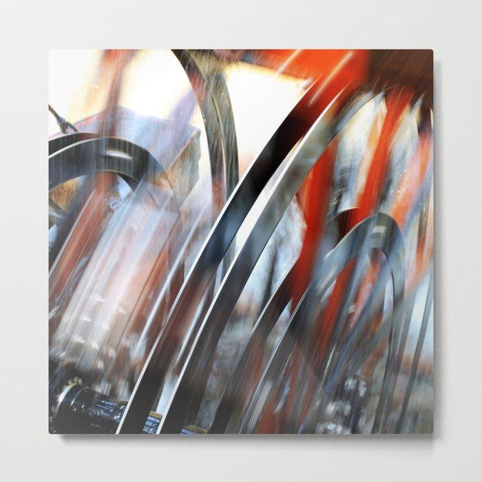 Wheel Abstract Metal Print
