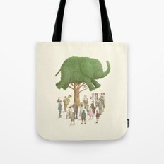 The Night Gardener - Elephant Topiary  Tote Bag
