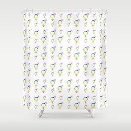 Symbol of Transgender 41 Shower Curtain