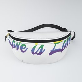 Love is Love Rainbow Color Fanny Pack