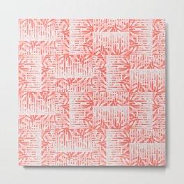 Midcentury Living Coral Metal Print
