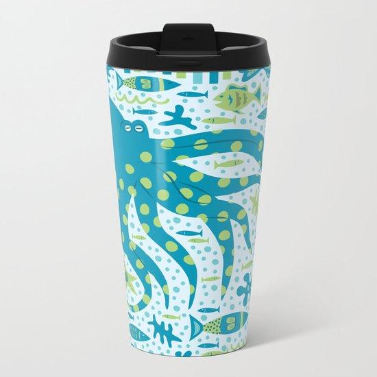 SEA PATTERNS Metal Travel Mug