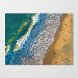 Waves on The California Coast Aerial Nature Photography Canvas Print