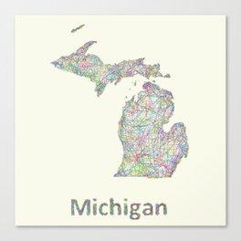 Michigan map Canvas Print