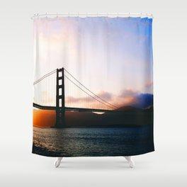 Golden Gate Bridge Sunrise, San Francisco Bay Shower Curtain