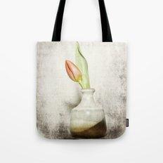 Single Tulip Still Life Tote Bag