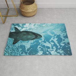 Shark Photography | Deep Sea | Ocean Art | Wildlife | Nature | Fish Rug
