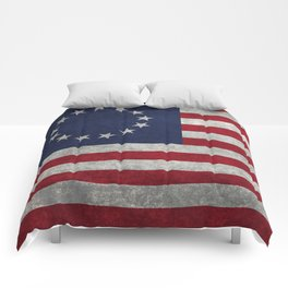 USA Betsy Ross flag - Vintage Retro Style Comforters