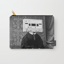 Faces of the Past: Audio Cassette Carry-All Pouch