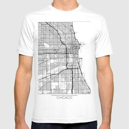 Chicago Map White T-shirt