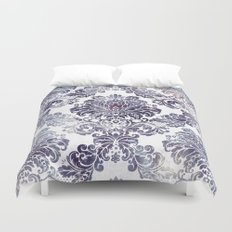 Blueberry Damask Duvet Cover