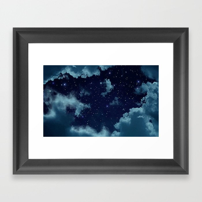 Night Sky Gerahmter Kunstdruck