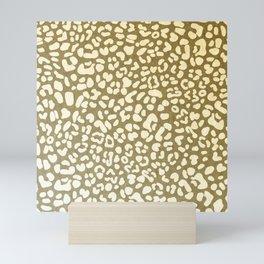 Leopard Beige Pattern Mini Art Print