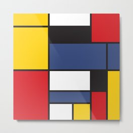 Mondrian 3 Metal Print